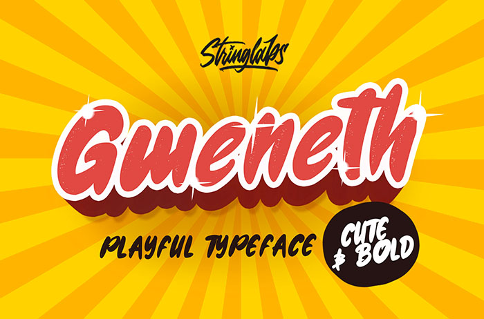 Gweneth Playful Display Font