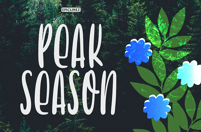 Peak Season Handwritten Font