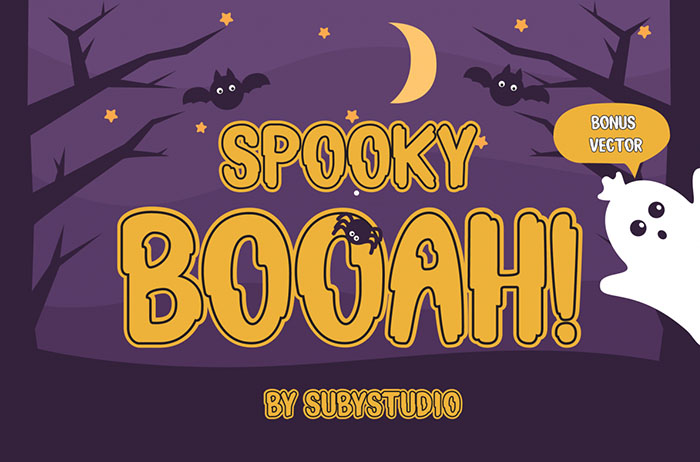 Spooky Booah Display Font