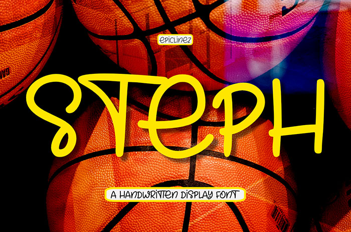 Steph Handwritten Display Font
