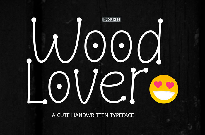 Wood Lover Decorative Font