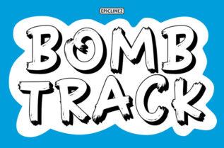 Bombtrack Display Font