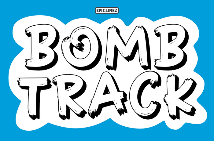 Bombtrack Display Font