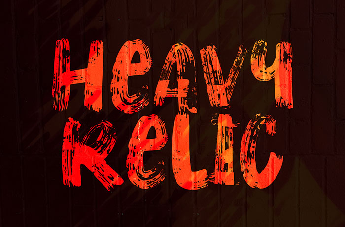 Heavy Relic Brush Font