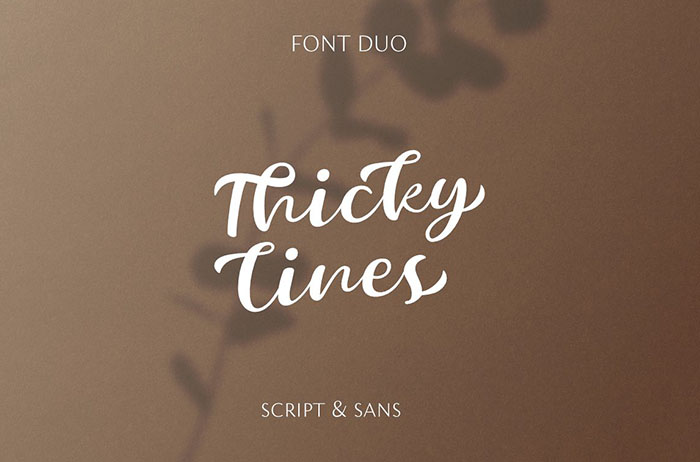 Thickylines Script Font