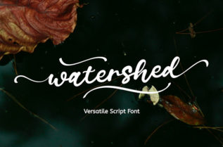 Free Watershed Script Font