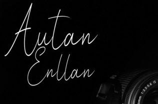Autan Enllan Signature Font