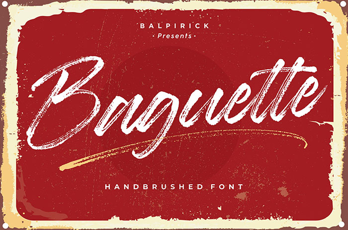 Baguette Natural Brush Font