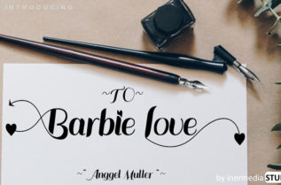 Barbie Love Calligraphy Font