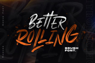 Better Rolling Display Font