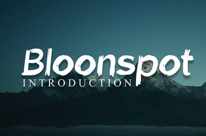 Bloonspot Display Font