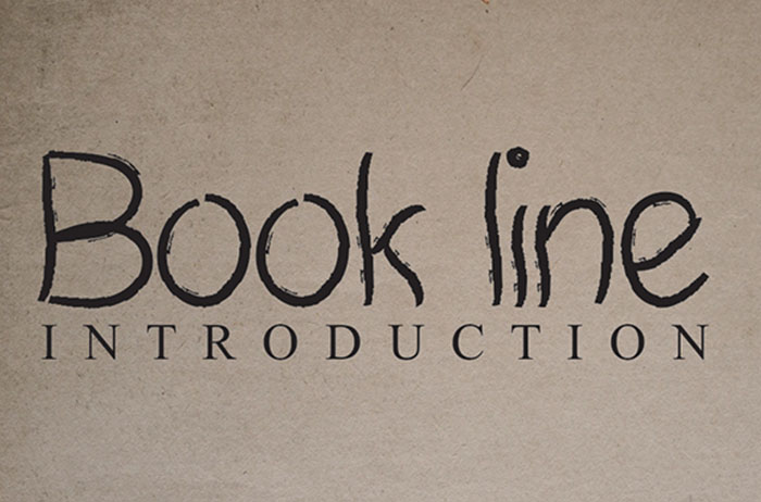 Book Line Brush Font