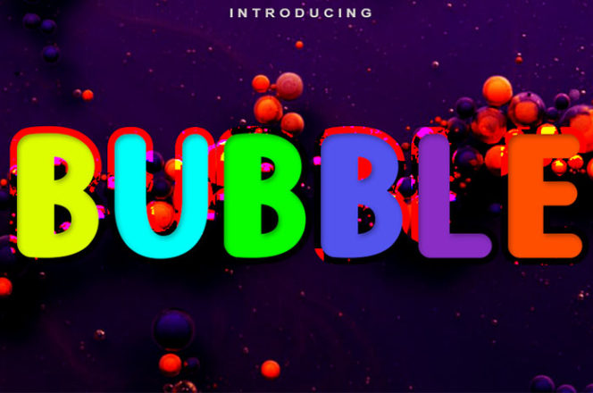 Free Bubble Display Font