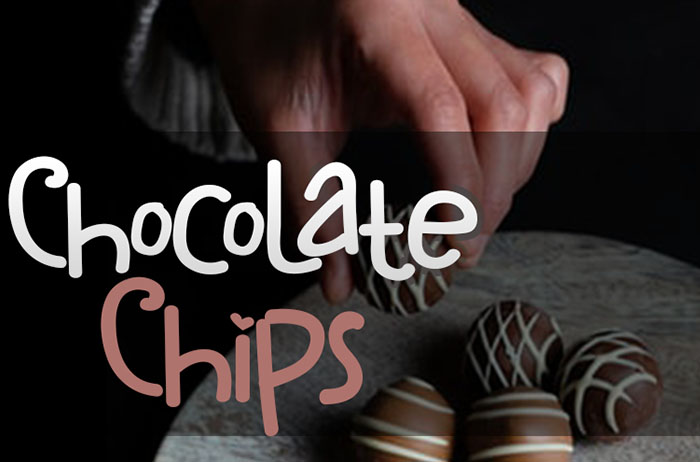 Chocolate Chips Display Font