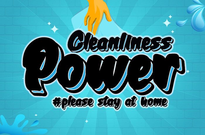 Cleanliness Power Display Font