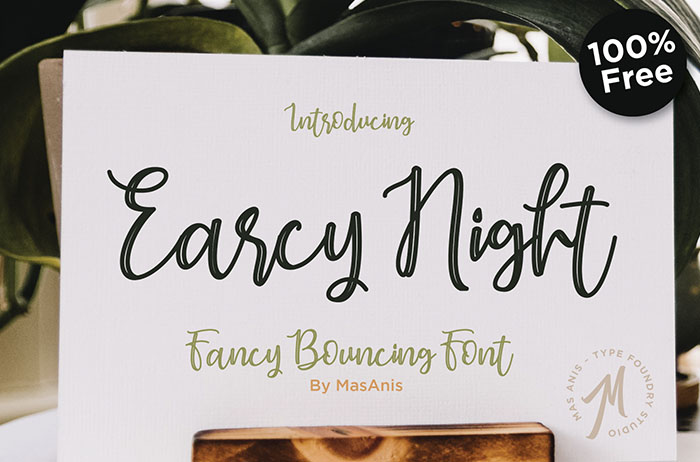 Earcy Night Handwritten Font