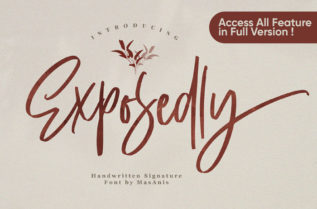 Exposedly Script Font