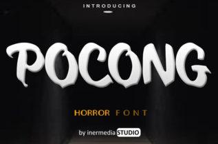 Free Pocong Display Font