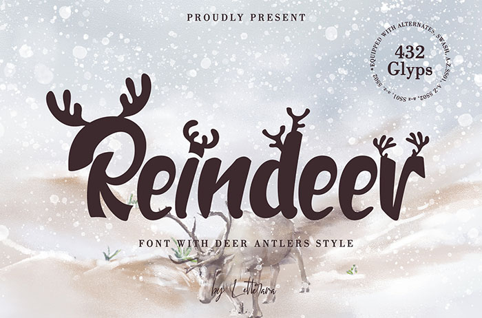 Reindeer Display Font