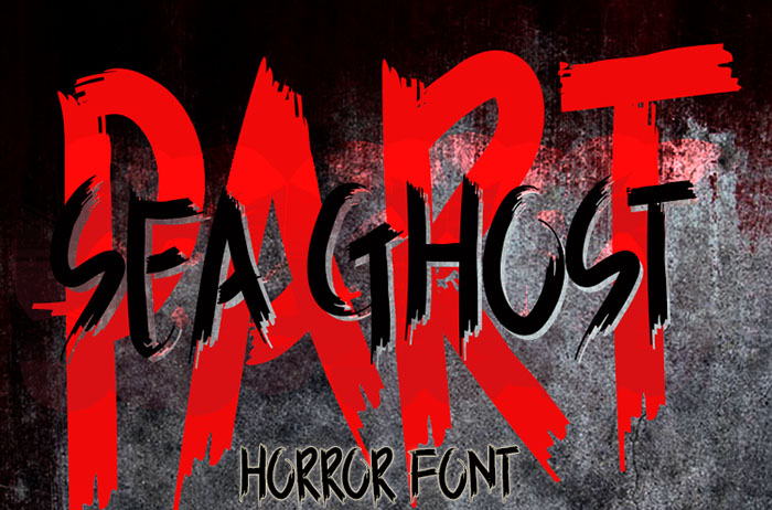 Sea Ghost Brush Font