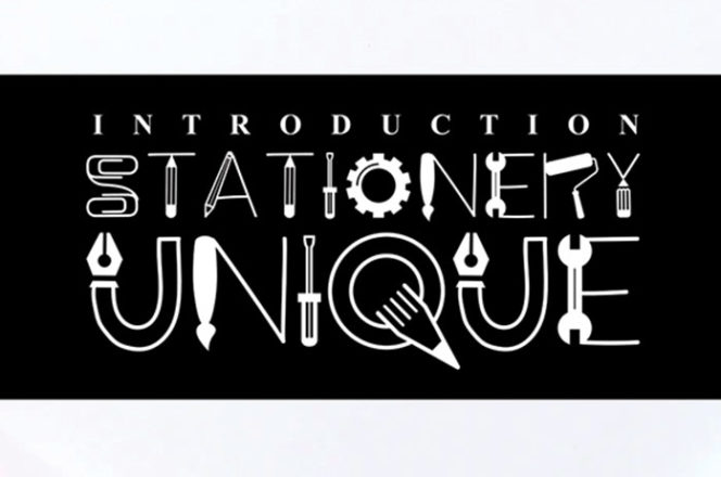 Stationary Unique Display Font