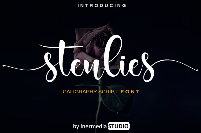 Stenlies Calligraphy Font