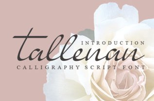 Free Tallenan Calligraphy Font