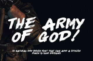 The Army Of God Brush Font