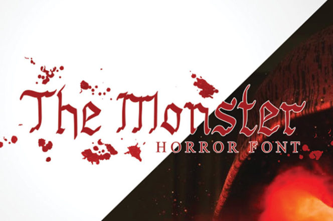 The Monster Display Font