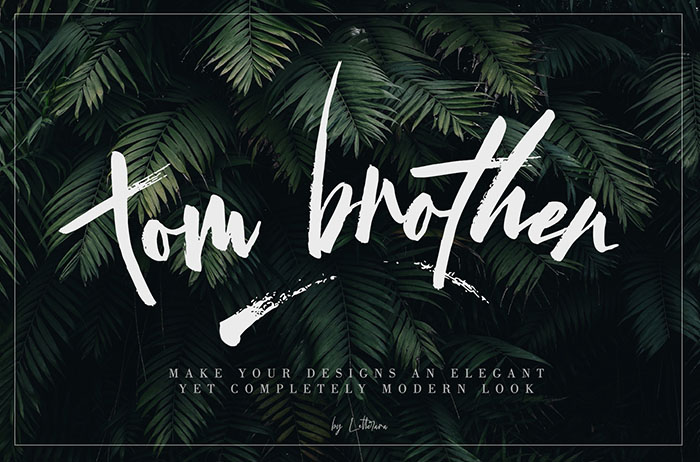 Tom Brother Brush Font
