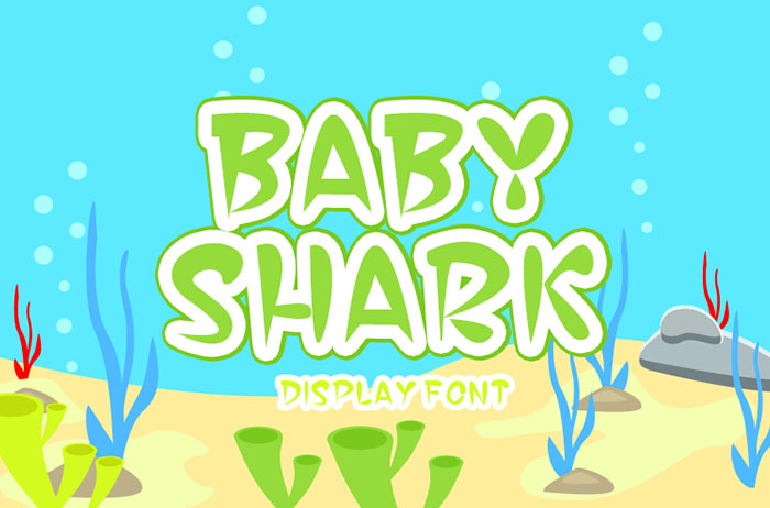 Baby Shark Display Font