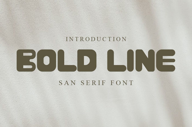 Bold Line Sans Serif Font