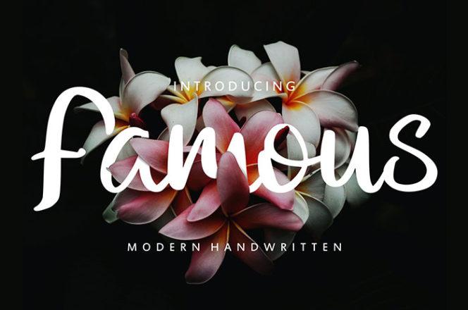 Famous Modern Script Font