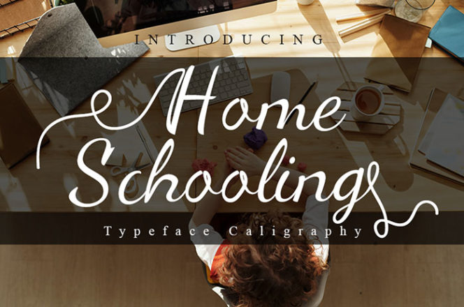 Home Schooling Calligraphy Font