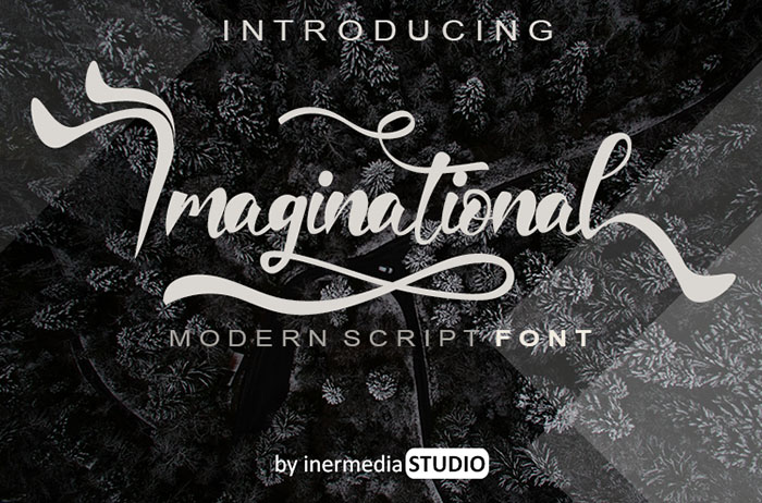 Imaginational Calligraphy Font