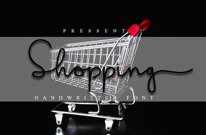 Shopping Handwritten Font