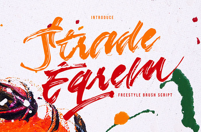 Strade Eqrem Brush Font