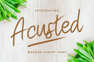 Acusted Script Font