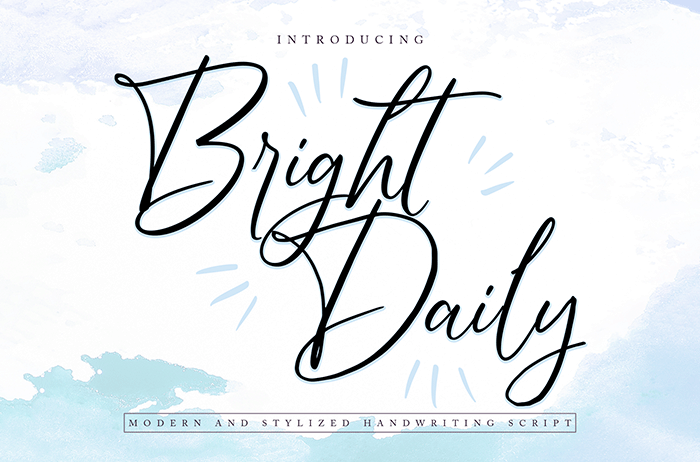 Bright Daily Script Font