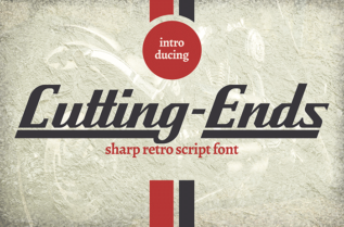 Cutting Ends Retro Font