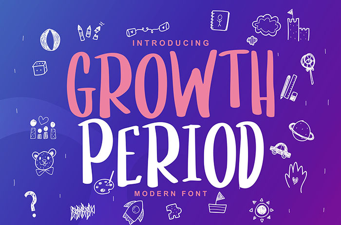 Growth Period Display Font