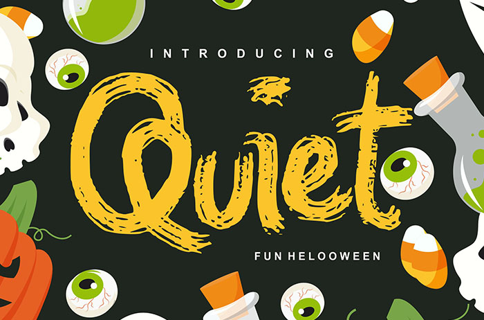 Quiet Decorative Font