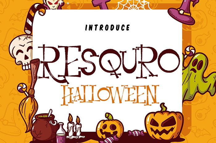 Resquro Halloween Decorative Font