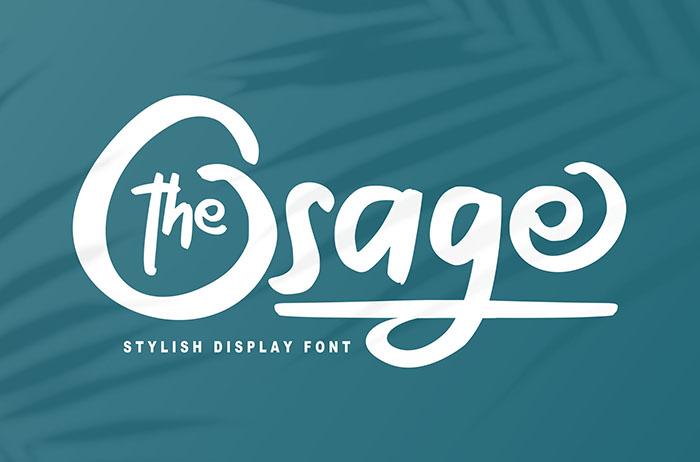 The Osage Display Font