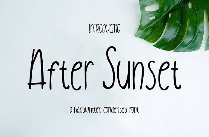 After Sunset Display Font