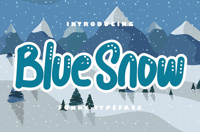 Blue Snow Decorative Font
