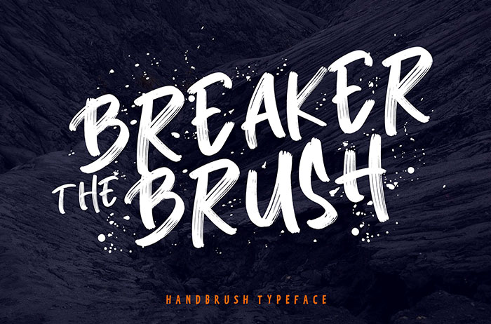 Breaker Brush Font