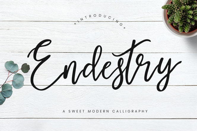 Endestry Calligraphy Font