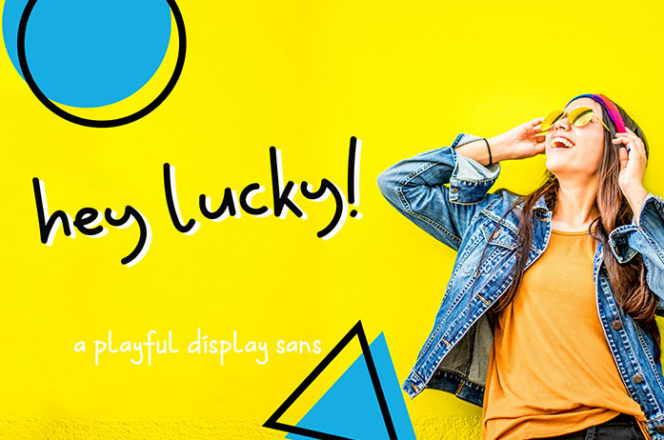 Hey Lucky Display Font