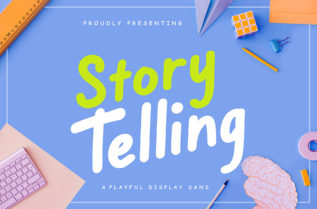 Story Telling Display Font